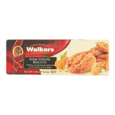 Walkers Stem Ginger Biscuits Set of 12