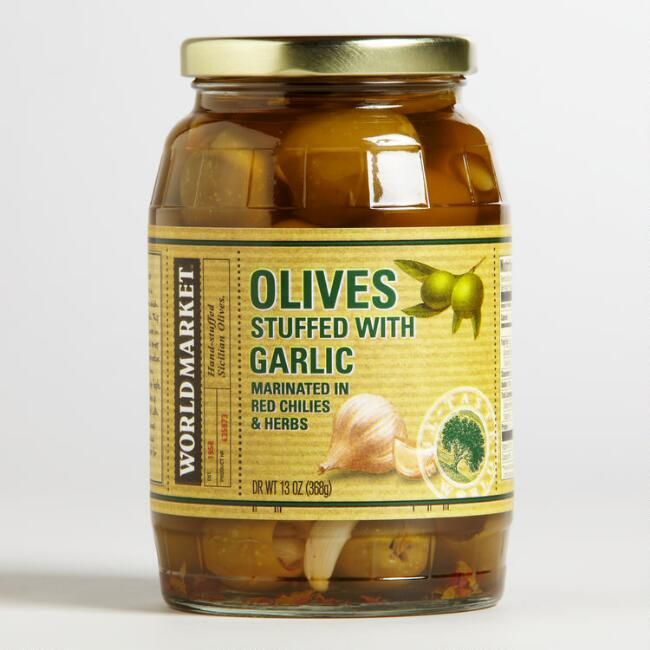 World Market® Olives with Garlic
