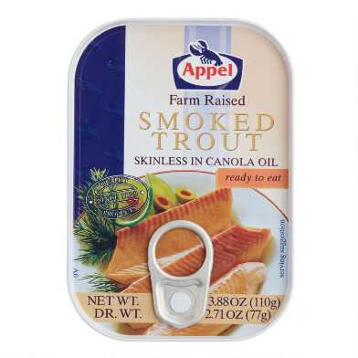 Appel Smoked Trout in Oil Set Of 2
