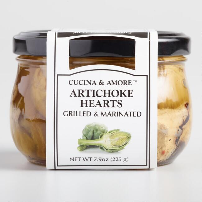 Cucina & Amore Grilled Artichoke Hearts, Set of 6