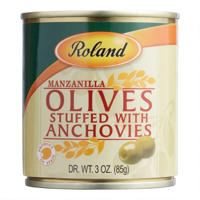 Roland Green Olives Stuffed With Anchovies Set Of 12