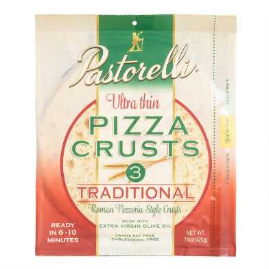 Pastorelli Ultra Thin 12 Inch Pizza Crusts 3 Pack