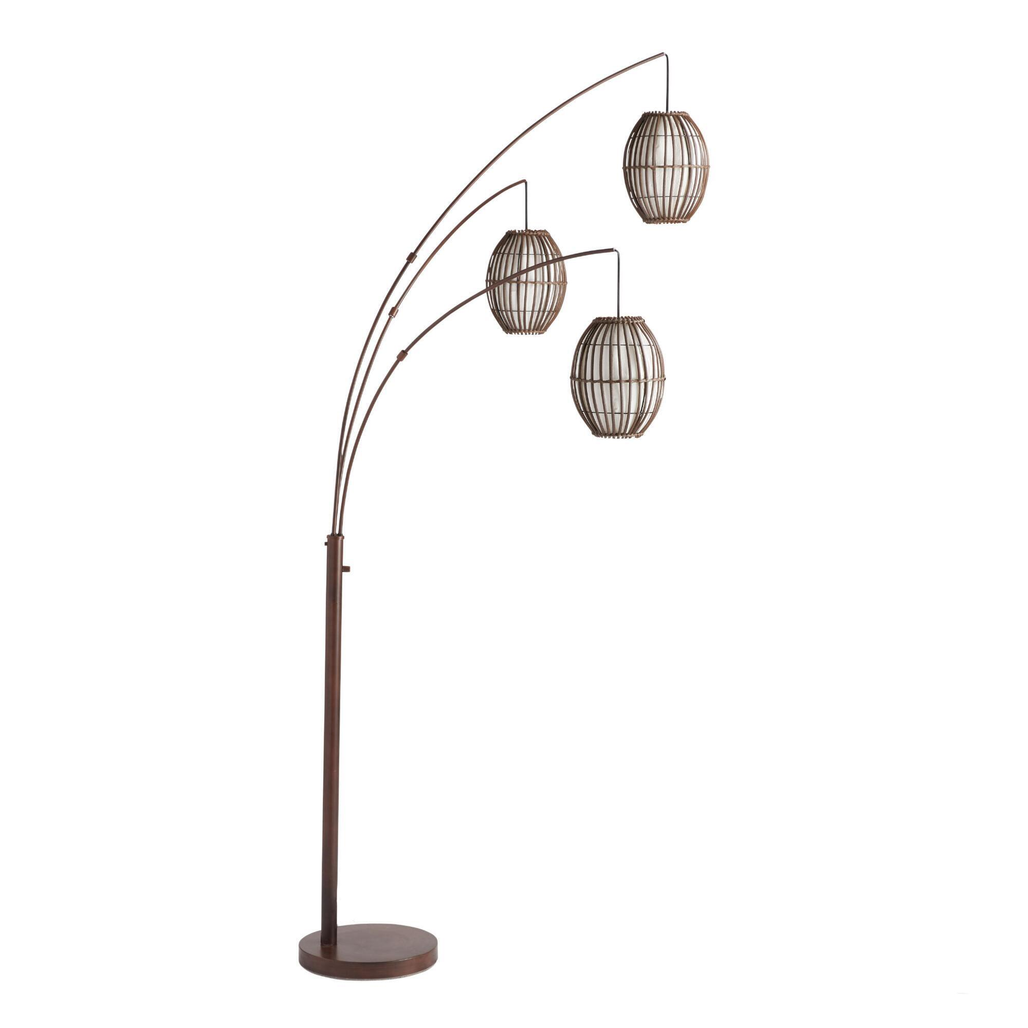 Tiki arc spheres floor lamp world market mozeypictures