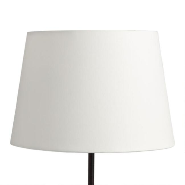 Solid off white accent lamp shade world market aloadofball Image collections