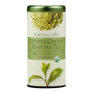 The Republic Of Tea Double Green Matcha Tea 50 Count