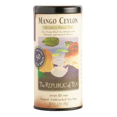 The Republic Of Tea Mango Ceylon Black Tea 50 Count