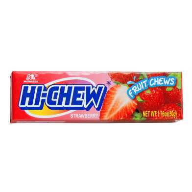 Hi-Chew Strawberry Chewy Candy Snack Size Set of 10