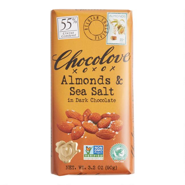 Chocolove Almonds and Sea Salt Dark Chocolate Bar