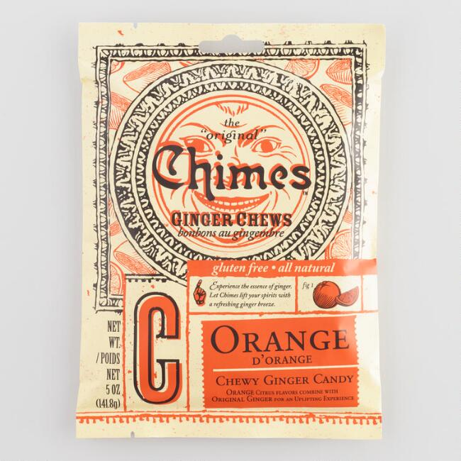 Chimes Orange Ginger Chewy Candy Set of 5