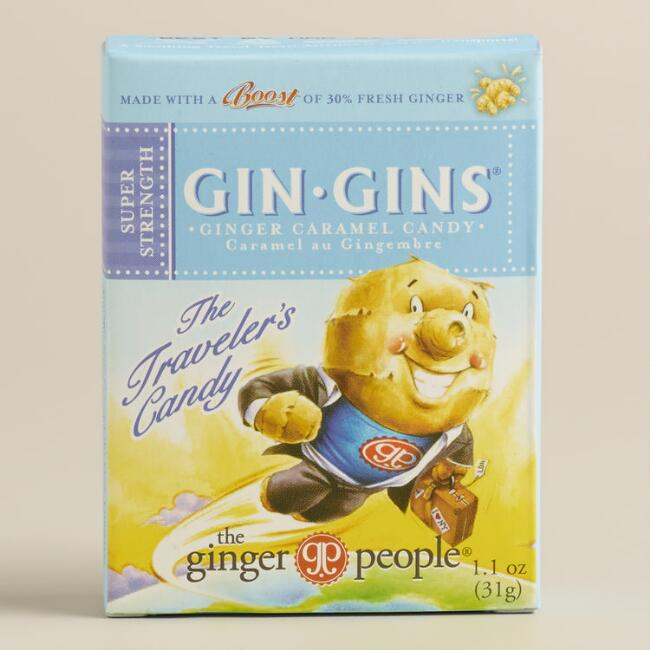 Gin Gins Ginger Caramel Chewy Candy Snack Size Set Of 12