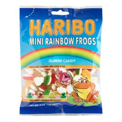 Haribo Mini Rainbow Frogs Gummy Candy Set Of 12