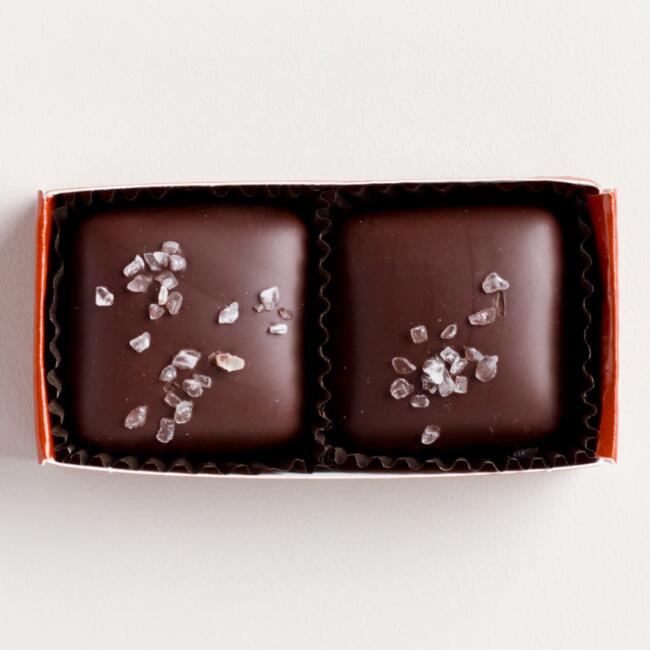 Jo's 2-Piece Dark Chocolate Salted Caramels, Set of 10