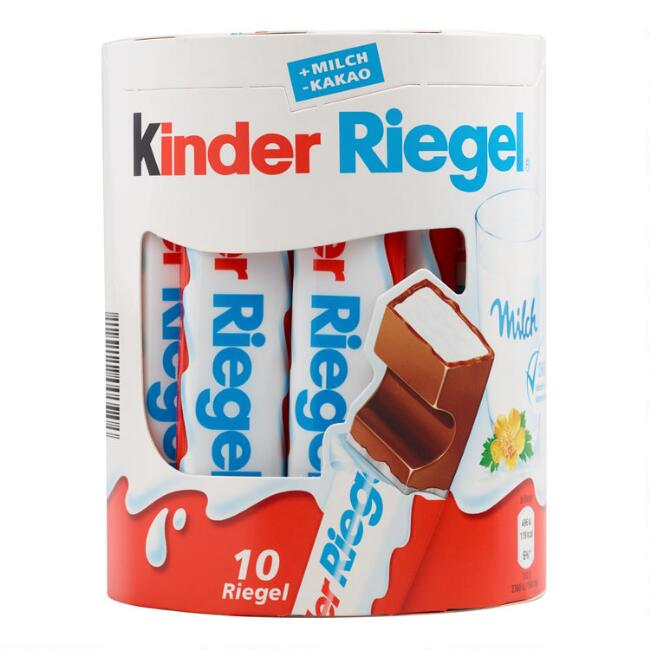 Kinder Riegel Milk Chocolate Sticks 10 Pack