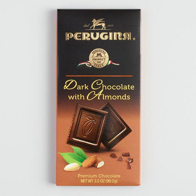 Perugina Dark Chocolate with Almonds Bar, Set of 2