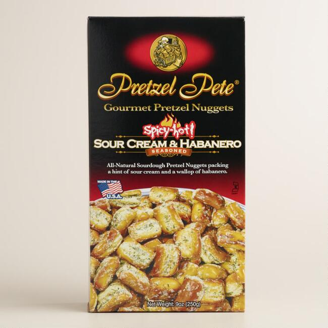Pretzel Pete Sour Cream and Habanero Pretzels, Set of 6