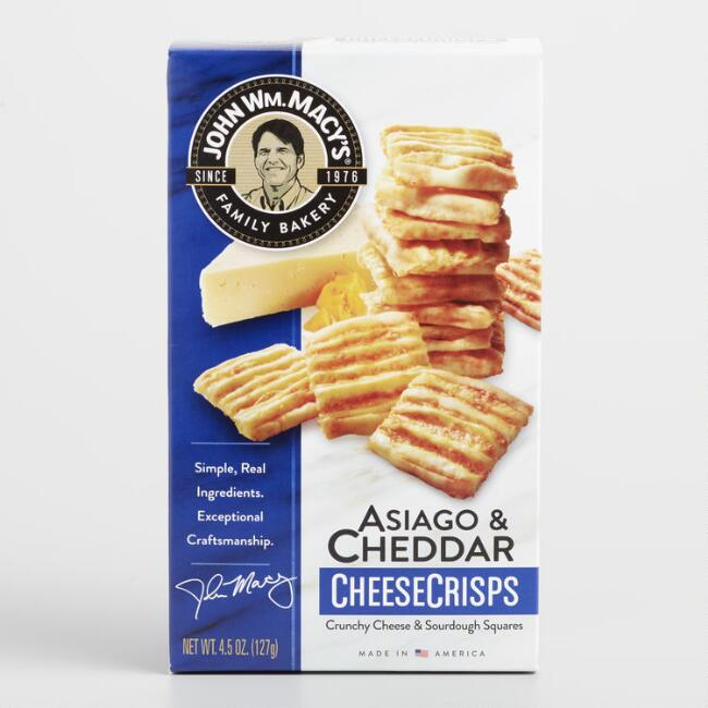 Macy's Cheddar and Asiago Cheese Crisps
