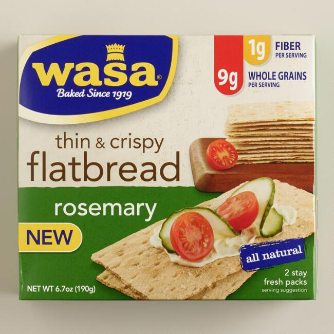 Wasa Thin and Crispy Rosemary Flatbread, Set of 10