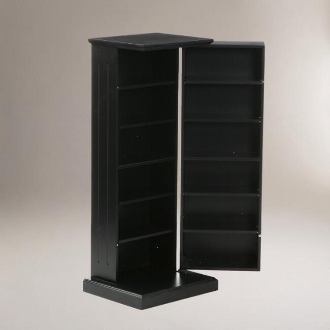 Black Hampton Media Storage Pedestal