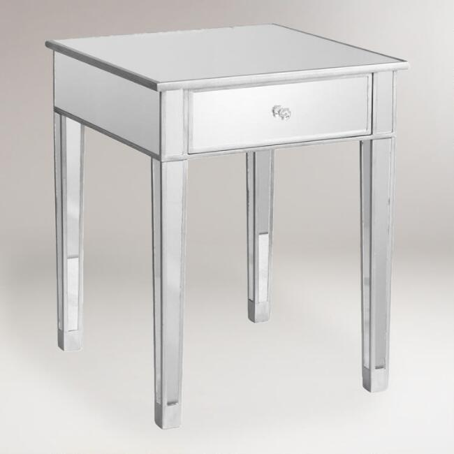 Mirrored Accent Table