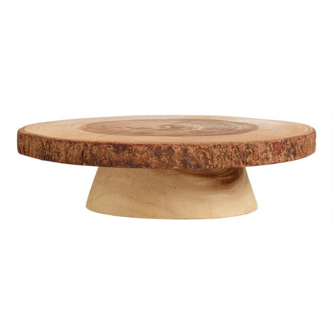 Wood Slice Pedestal Stand