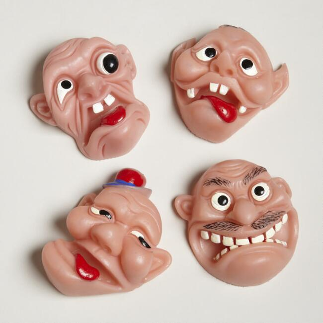 The League of Ugly Muggs Face Puppets, Set of 4