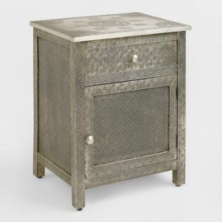 Kiran Embossed Metal Cabinet Dressers  Chests and Bedroom Storage World Market