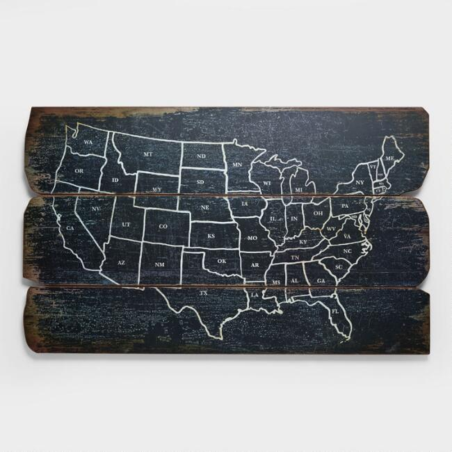usa wall map world market