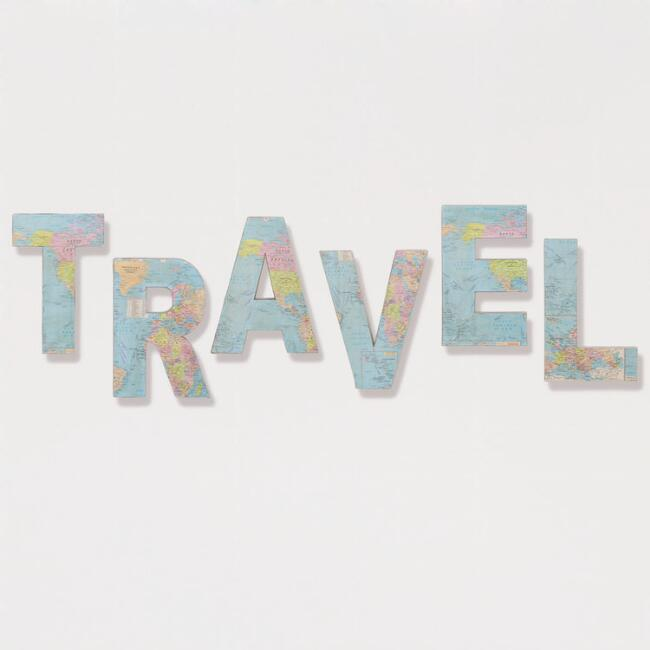 'Travel' Paper and Fabric Letters, Set of 6 | World Market