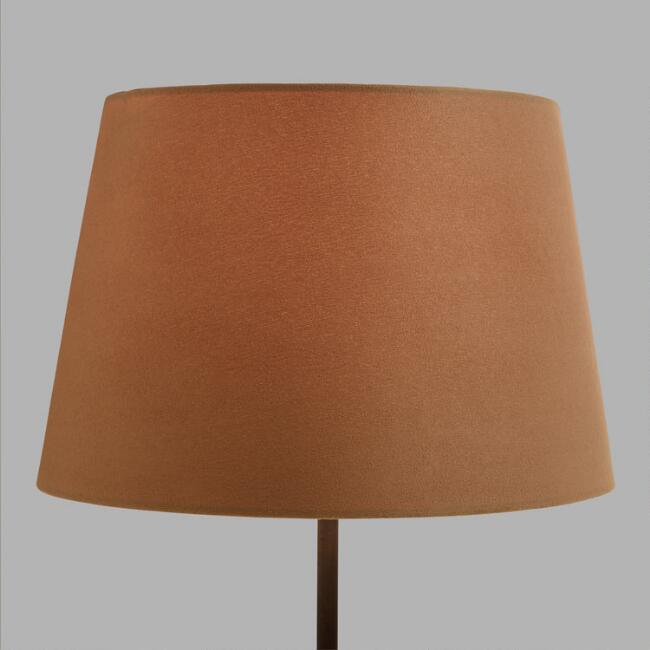 Natural Suede Accent Lamp Shade