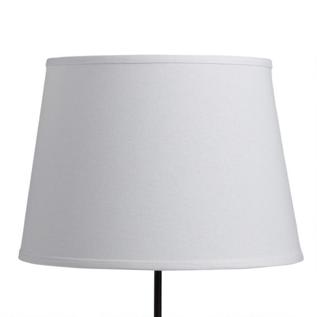 White cotton linen table lamp shade world market aloadofball Image collections