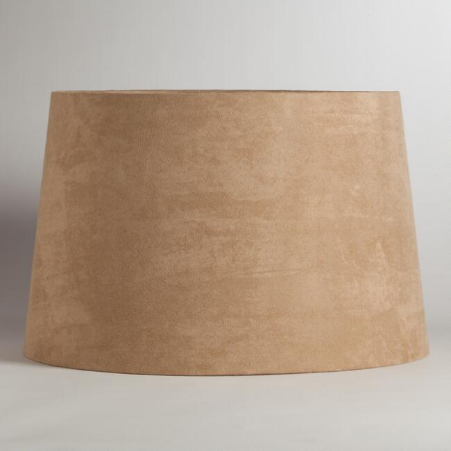 Natural Suede Floor Lamp Shade