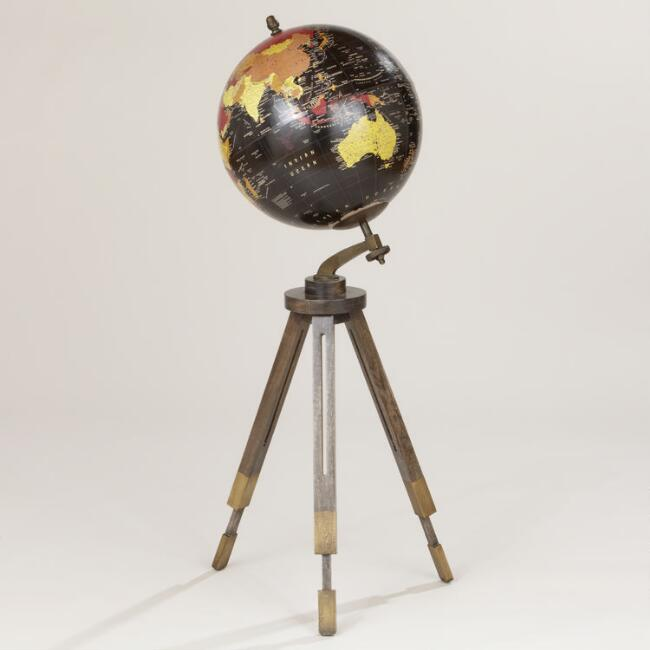 Black Globe with Floor Stand