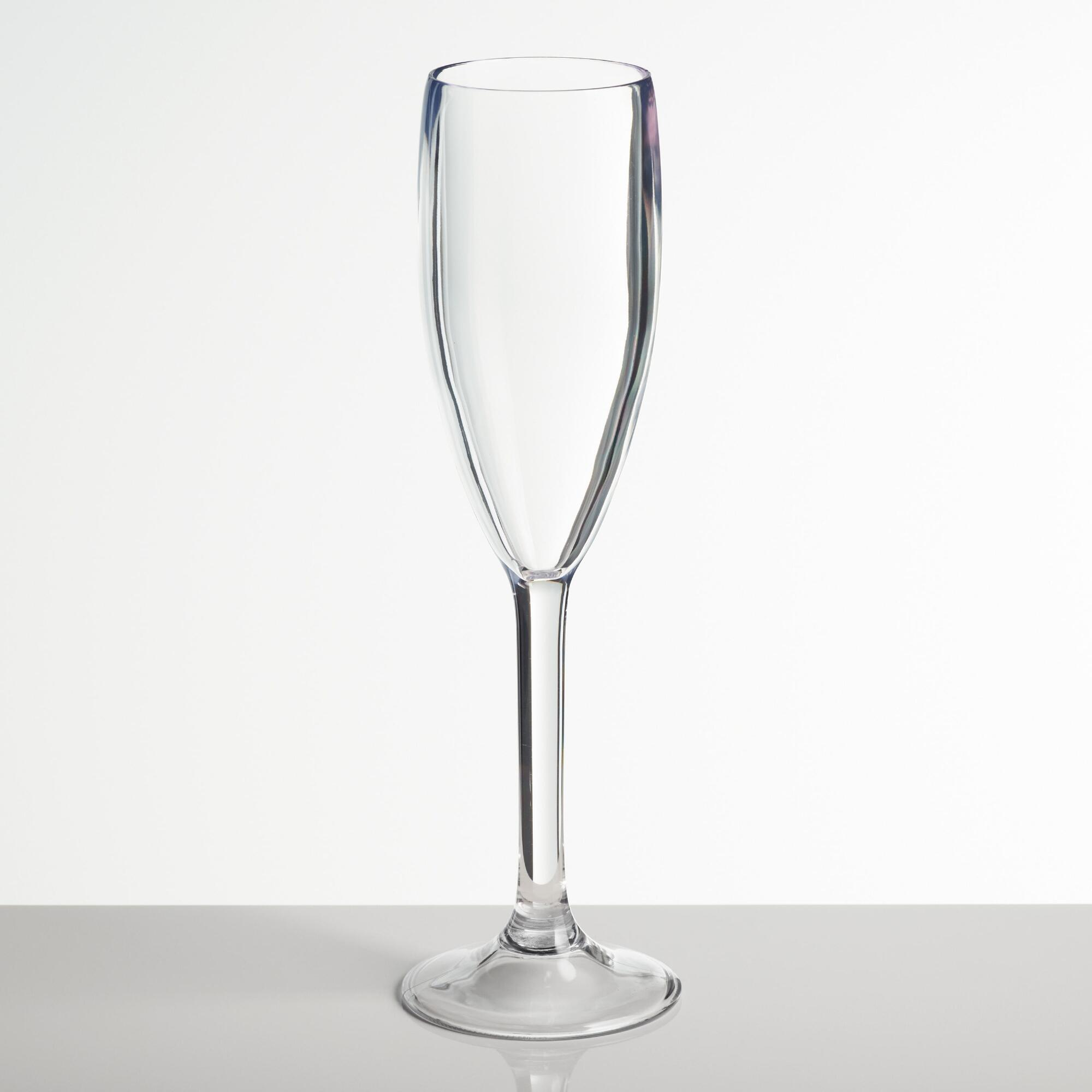 Acrylic Champagne Flutes Set of 4 - Dinner Plate by World Market