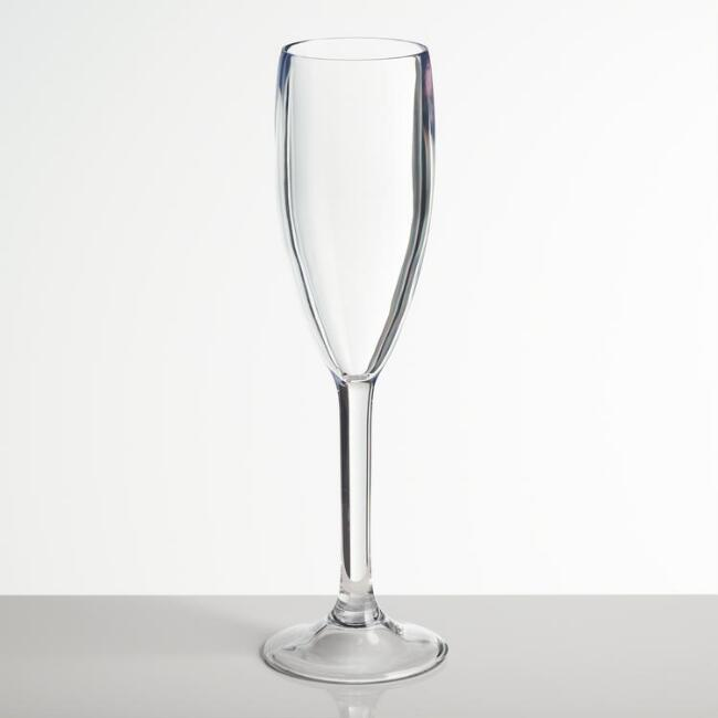 Acrylic Champagne Flutes Set of 6