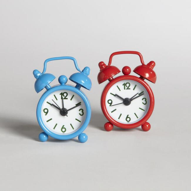 Assorted Mini Alarm Clocks