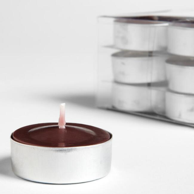 Indonesian Teak Tealight Candles 12-Pack