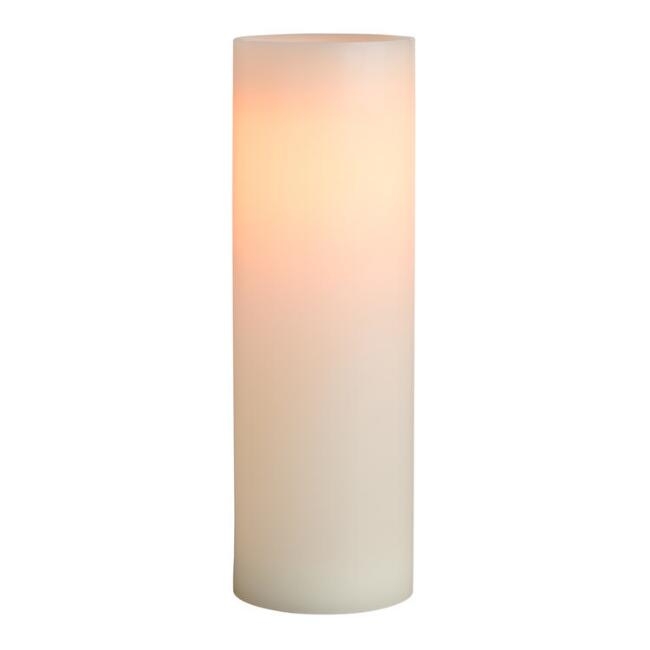 3x9 Ivory Flameless LED Pillar Candle