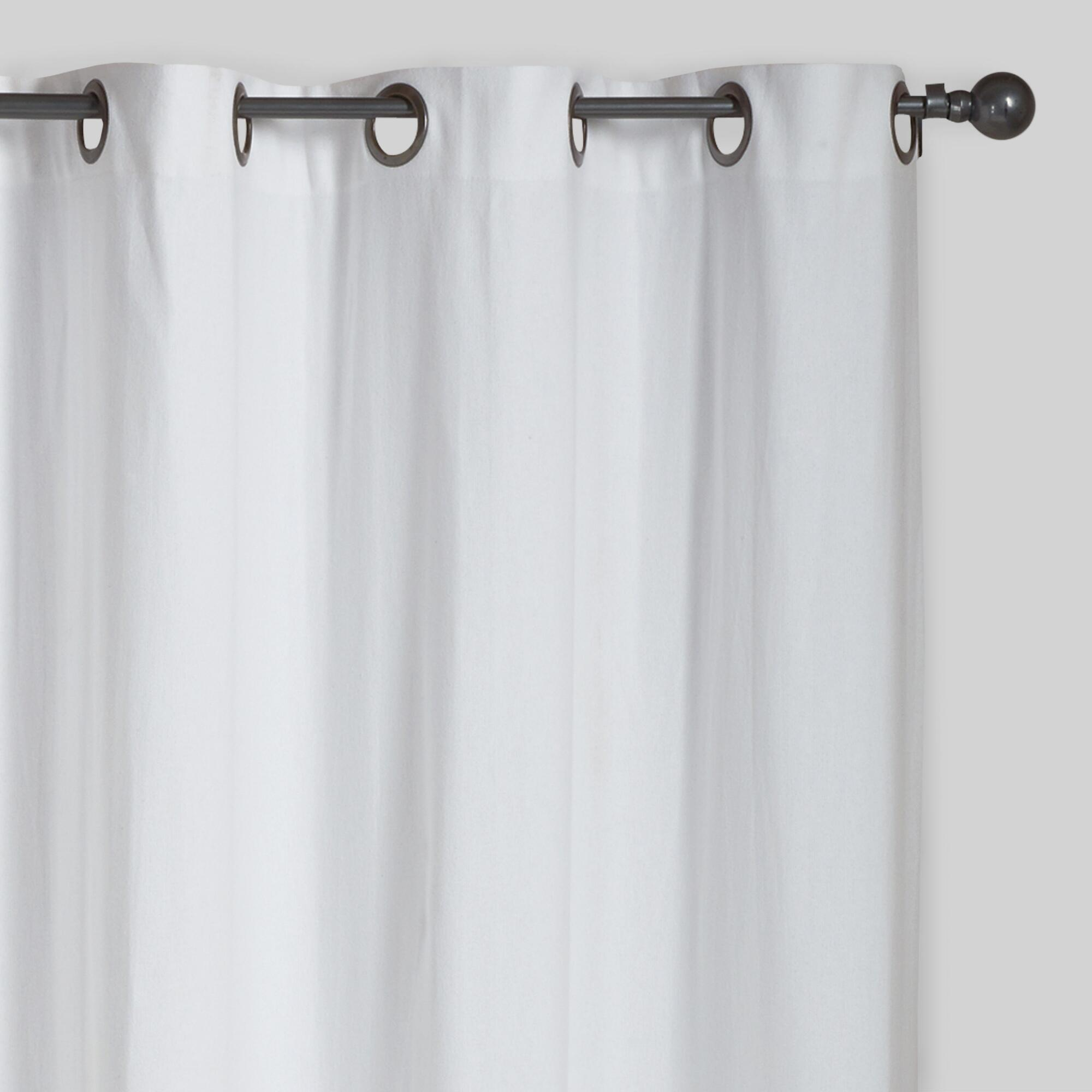 White Parker Grommet Top Curtains Set Of 2