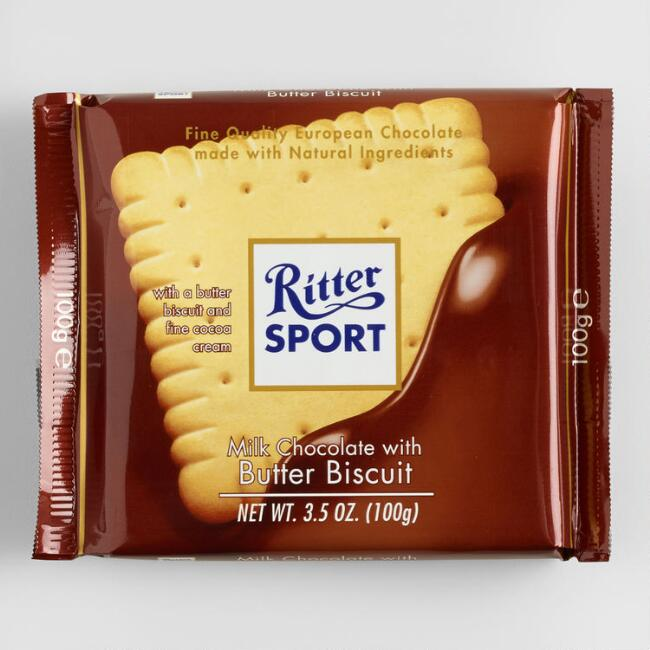 Ritter Sport Milk Chocolate with Butter Biscuit, Set of 11