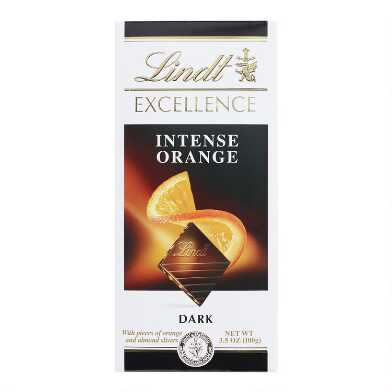Lindt Excellence Intense Orange Dark Chocolate Bar