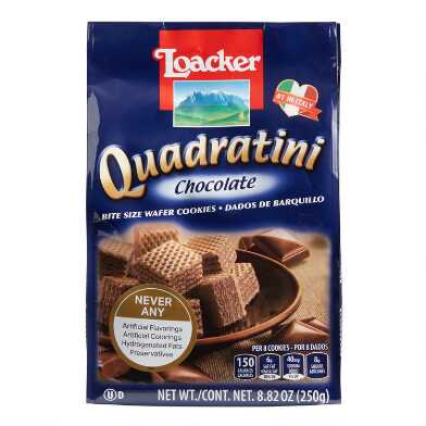 Loacker Quadratini Chocolate Wafers