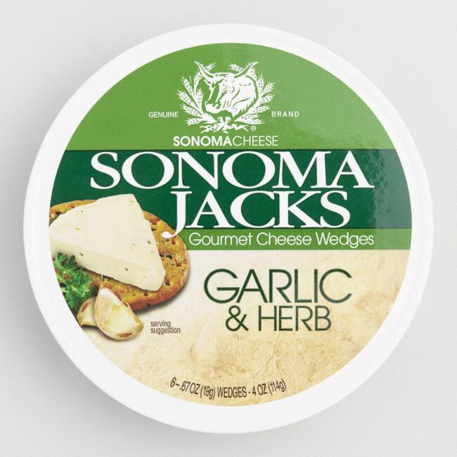 Sonoma Jacks Garlic And Herb Cheese Wedges Set of 12