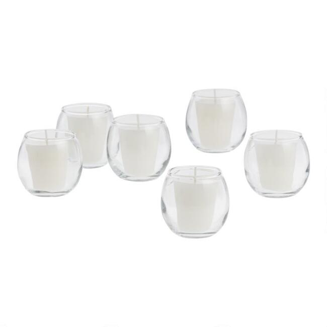 Bubble Glass Votive Holders Set of 6