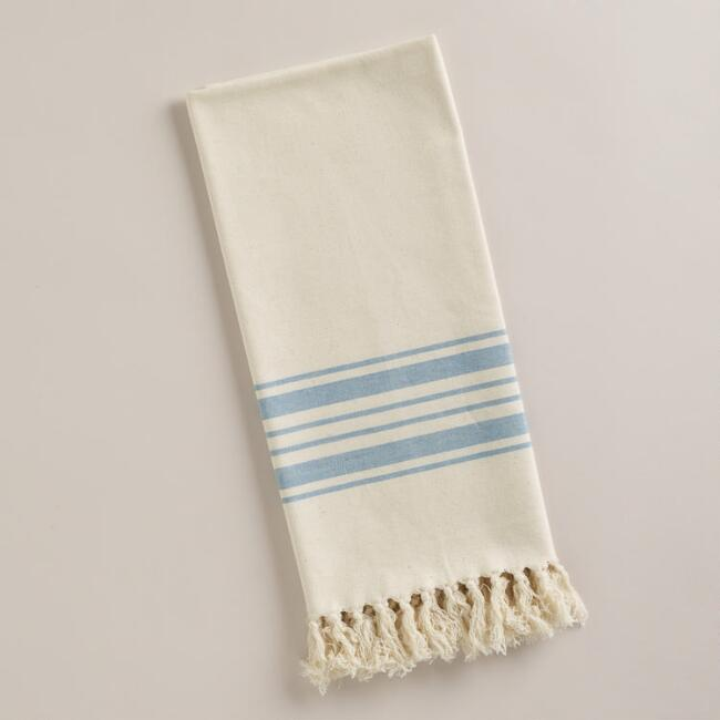 Blue Villa Stripe Kitchen Tea Towel