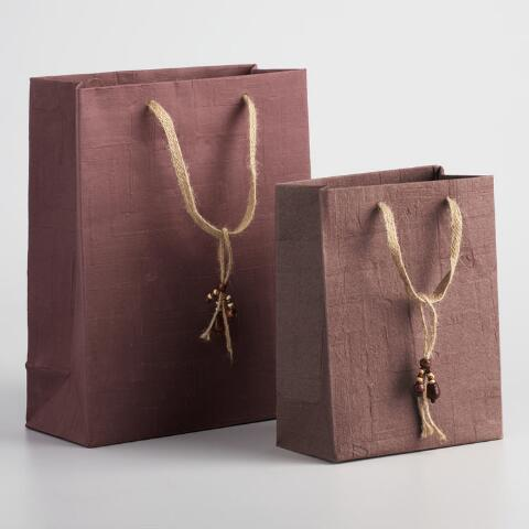 3f5b470dab41f Brown Woven Handmade Gift Bags | World Market