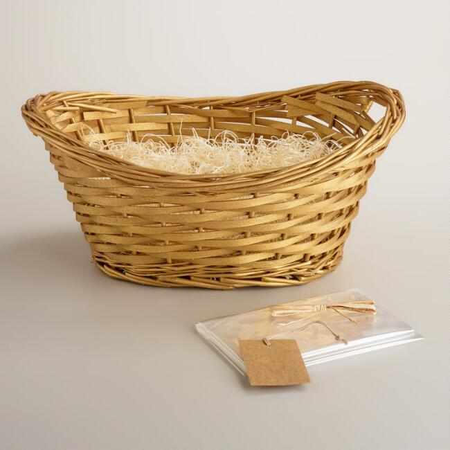 Gold Gift Basket Kit