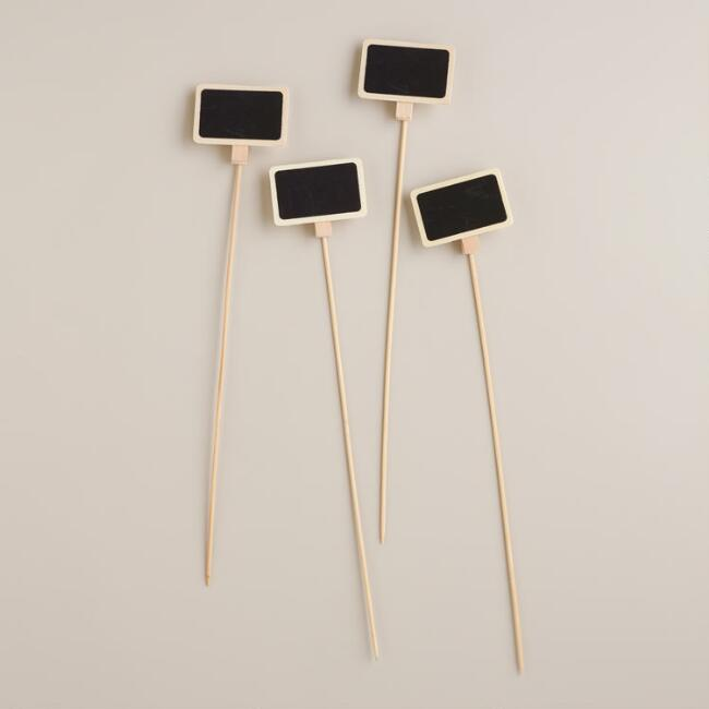 Chalkboard Gift Toppers, Set of 4