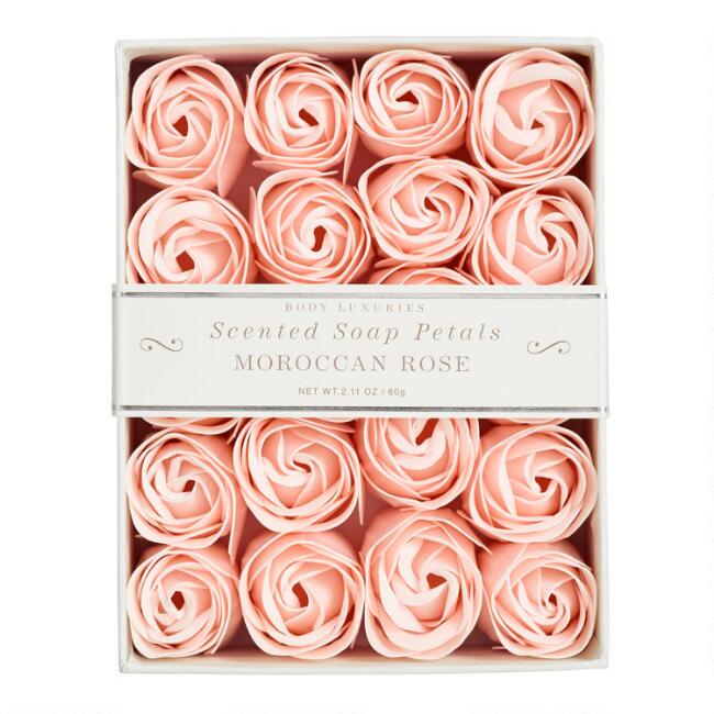 Moroccan Rose Soap Petals, 20 Pieces