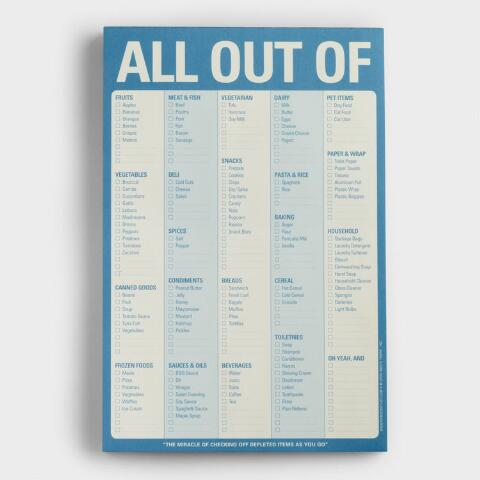 ab6008927f38f All Out Of Grocery List Notepad