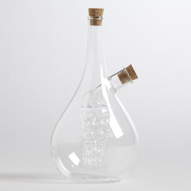 Glass Oil and Vinegar Decanter
